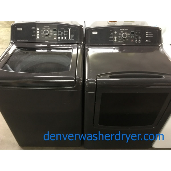 Slick Kenmore Oasis Direct-Drive Washer, Electric Dryer, Metallic Grey, Energy Star, HE, Quality Refurbished!