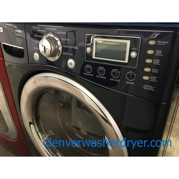 Front Load Stackable Lg Washer Dryer Set Electric Navy