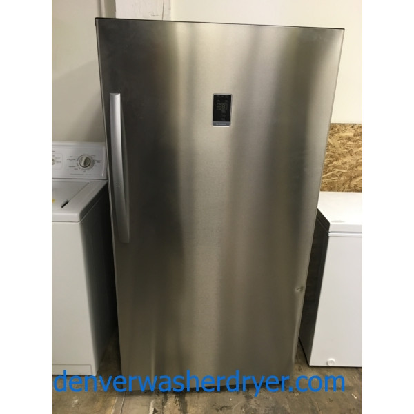 NEW! Upright 17 cu. ft. Convertible Refrigerator/Freezer by Insignia (Frigidaire), Frost-Free, Wi-Fi Enabled, Stainless, Energy Star