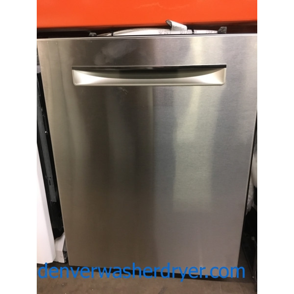 Brand-New Bosch 500 Series Stainless Steel Dishwasher, 24″, Pocket Handle, Top Control, Energy Star, 1-Year Warranty