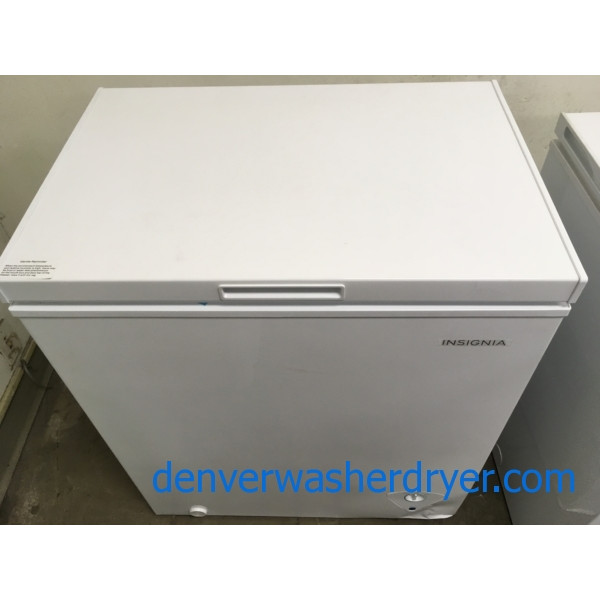 New! Chest Freezer by Insignia (GE), 5 cu. ft., Manual Defrost, 1-Year Warranty!