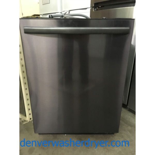 NEW! Black Stainless Steel Insignia (Samsung) 24″ Top Control Built-In Dishwasher, Energy Star, 1-Year Warranty