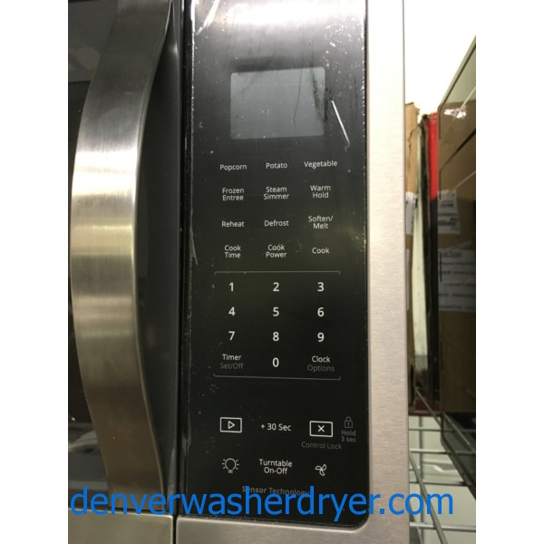NEW! Whirlpool Stainless Steel 1.9 cu. ft. Over the Range Microwave, Fingerprint Resistant, Sensor Cooking, 1-Year Warranty