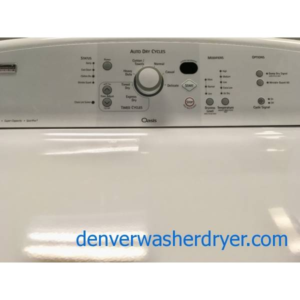 Beautifully Refurbished Kenmore Elite Oasis, King Plus Capacity, Top Load Washer and Dryer Set with 1-Year Warranty