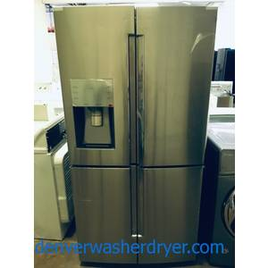 NEW Stainless Samsung Flex 4 Door French Refrigerator, Flex Zone, Food Showcase, 27.8 Cu.Ft. Capacity, 1-Year Warranty!