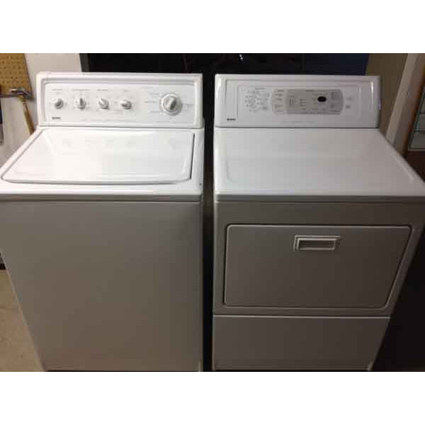 kenmore elite washer and dryer white. kenmore elite washer / dryer (digital dryer) and white r