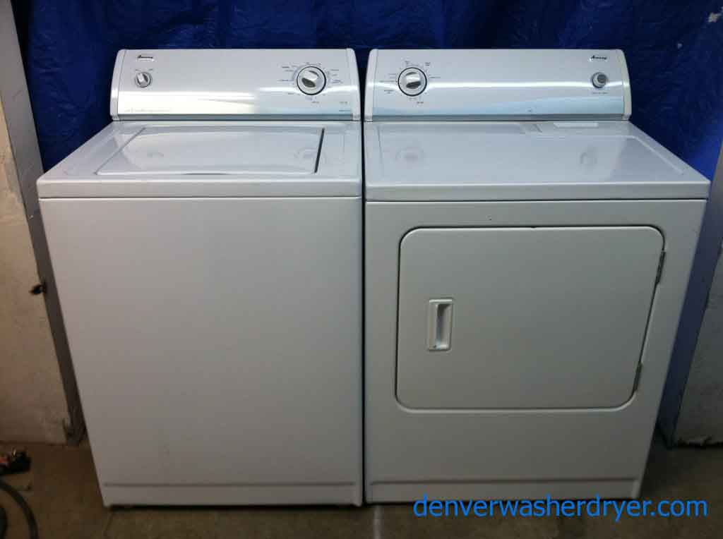 Large Images for Slick Amana Washer Dryer Set 488