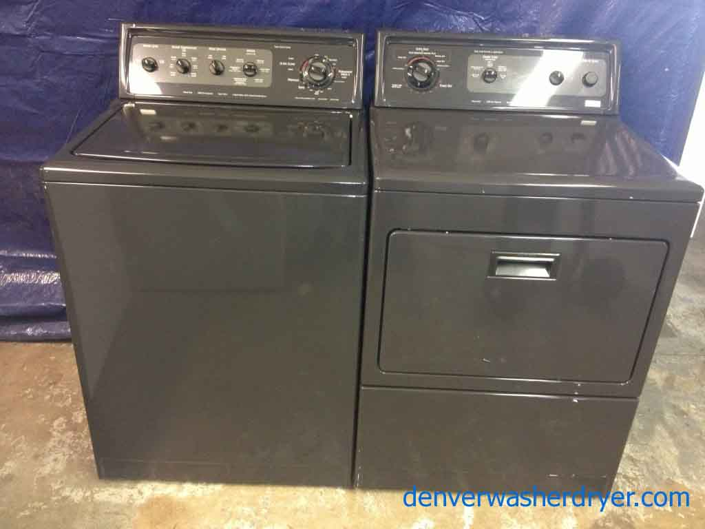 excellent kenmore elite washerdryer matching set black beauties