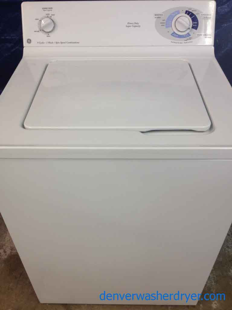 GE Washer, Heavy Duty, Super Capacity