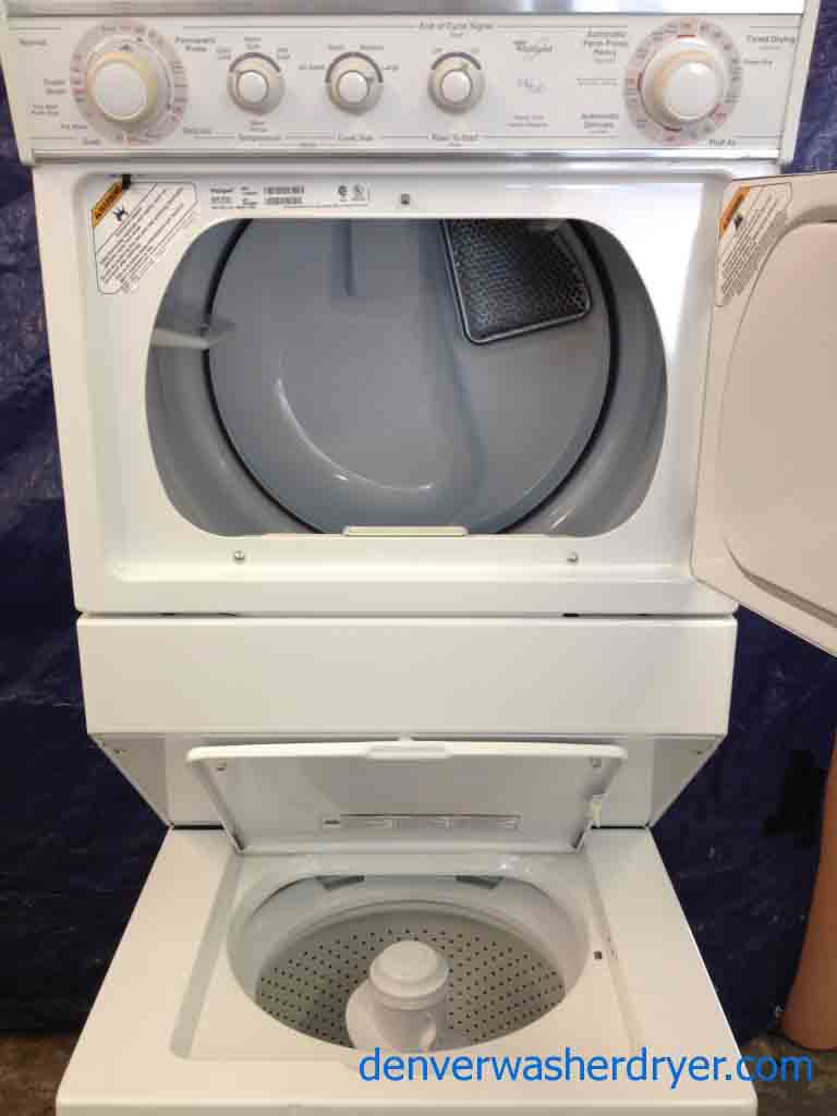 stackable whirlpool washer and dryer it