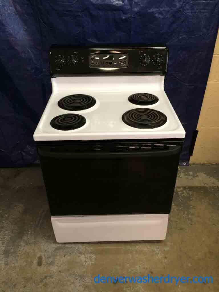 Large Images For Ge Stove 30 White And Black Self