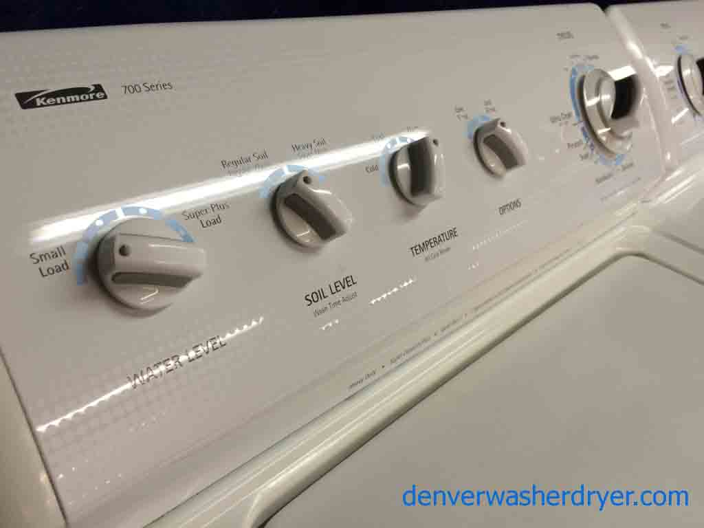 Large Images for Great Kenmore 700 Series WasherDryer Matching Set