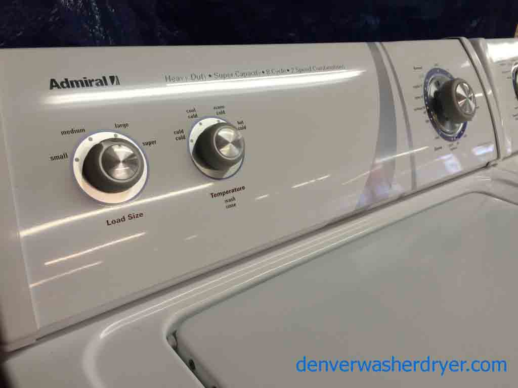 Admiral Washer Dryer By Whirlpool Direct Drive Recent Units