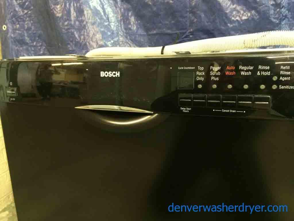 Bosch Dishwasher Black With Stainless Interior Super Nice Inside Design Inspiration