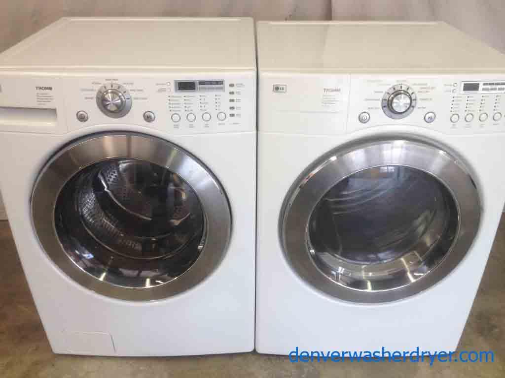 Stackable Lg Tromm Front Load Washer Dryer Set