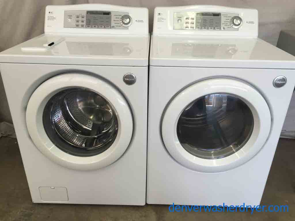 Amazing Lg Tromm Washer Dryer Stainless Steel Drums Gas