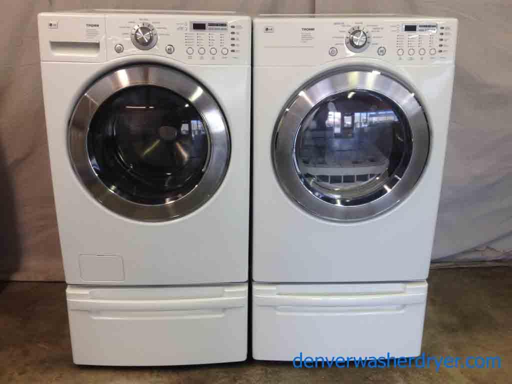 Stackable Front Loader Lg Tromm Washer Gas Dryer Set