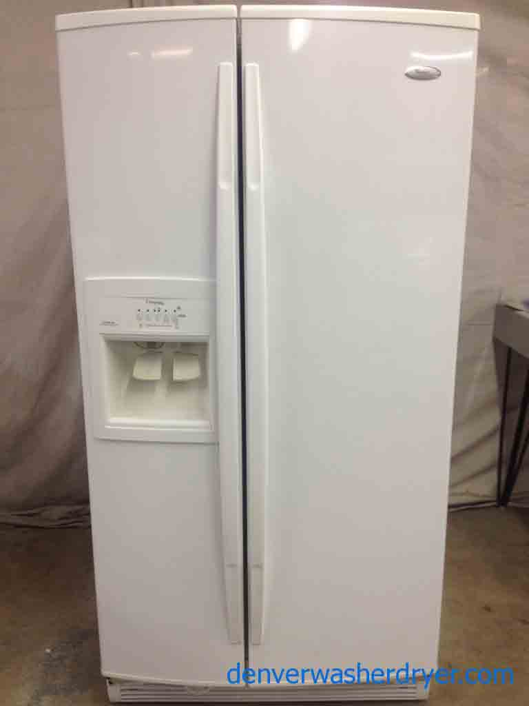 Side By Side Refrigerator >> Large Images for White Whirlpool Gold Side By Side Refrigerator! - #2368