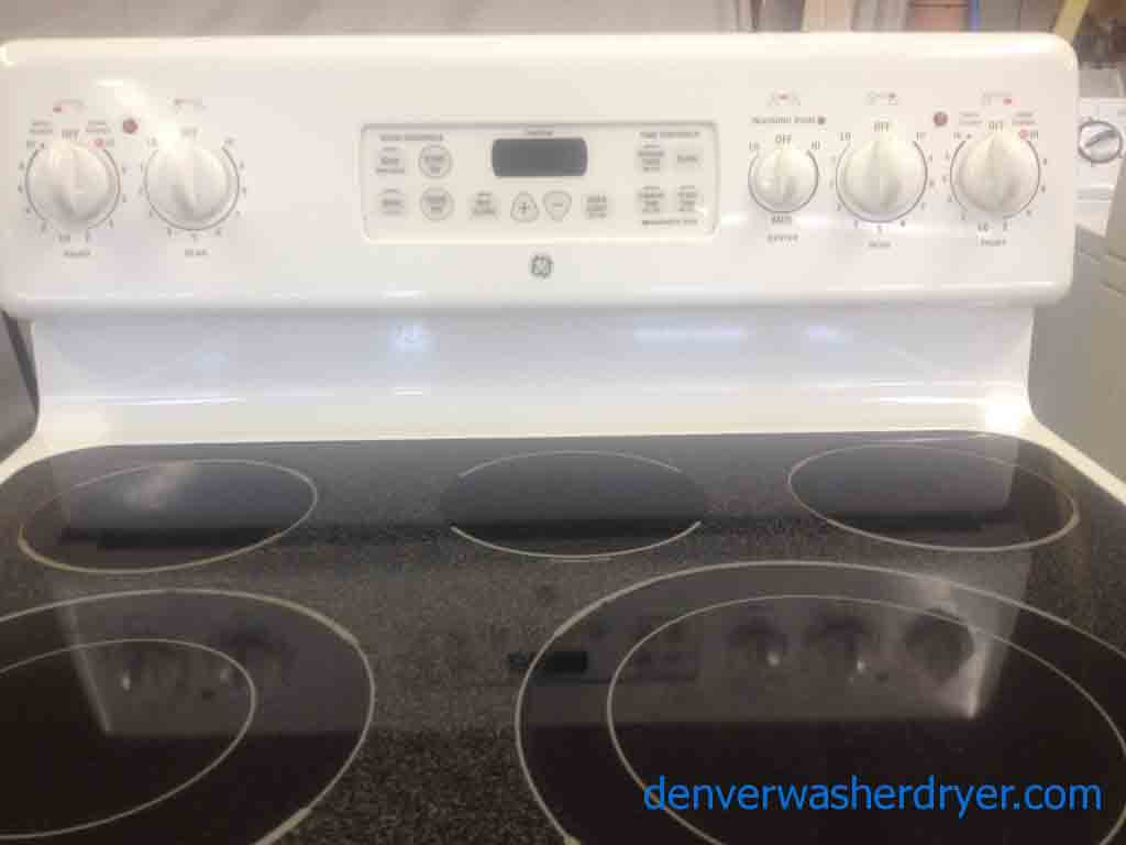 Large Images for White 5-Burner GE Glass Top Stove! - #2372