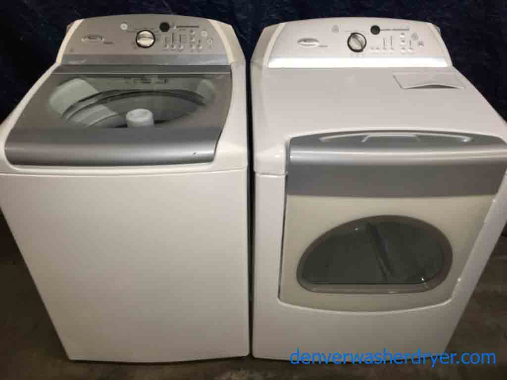 rare whirlpool cabrio washer dryer set he with agitator