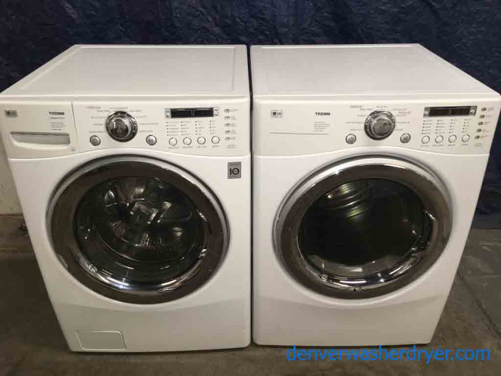 Stackable Lg Tromm Front Load Energy Star Washer Dryer Set With 1 Year Warranty