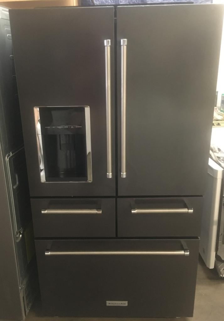 kitchenaid 5 door 42 inch brandnew 36u2033 black stainless kitchenaid 5door frenchdoor 258 cu ft refrigerator 1year warranty large images for