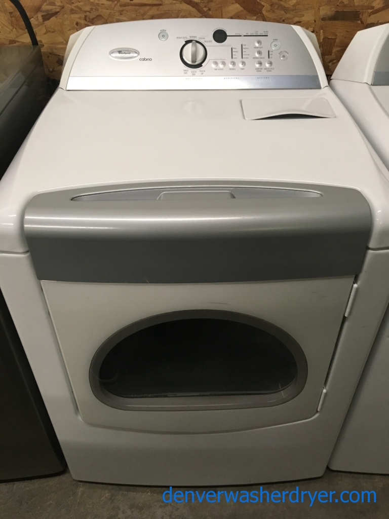 Awesome Whirlpool Cabrio Dryer, 220V, 29″, Wrinkle Guard, Quality Refurbished, 1-Year Parts Warranty!