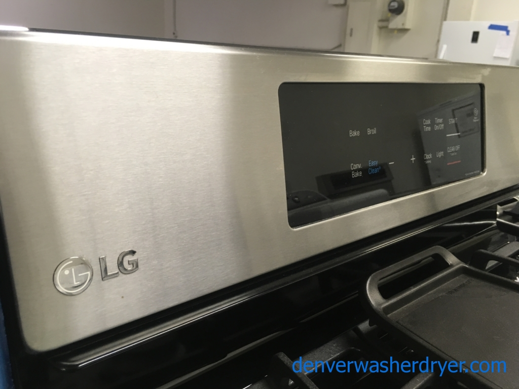 NEW! LG Stainless Range, GAS, Capacity 5.4 Cu.Ft., Convection, 1-Year Warranty!