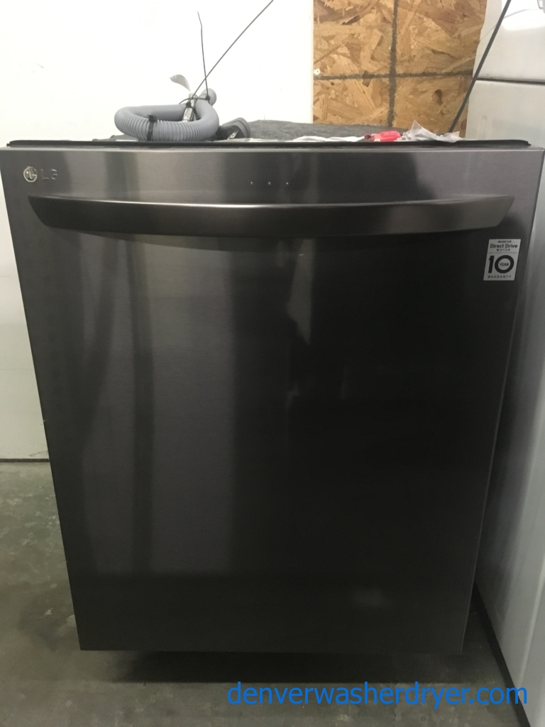 NEW!! LG Black Stainless Dishwasher, Built-In, Tall Tub, Energy-Star Rated, 3 Racks, WiFi Enabled, 1-Year Warranty!