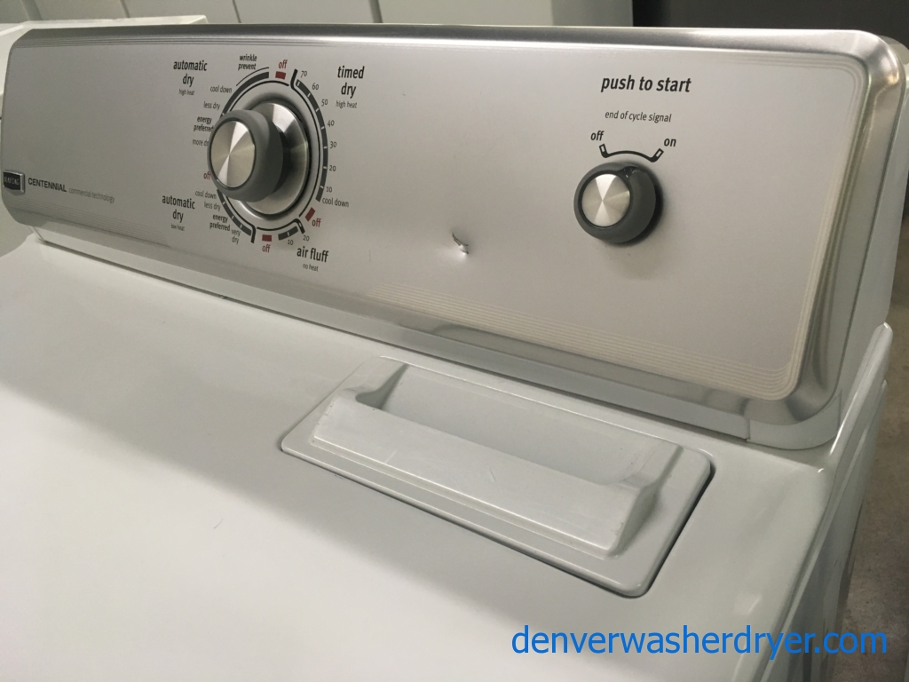 Maytag Dryer, Commercial Tech., 220V, 29″ Wide, Wrinkle Prevent Option, Capacity 7.0 Cu.Ft., Quality Refurbished, 1-Year Warranty!