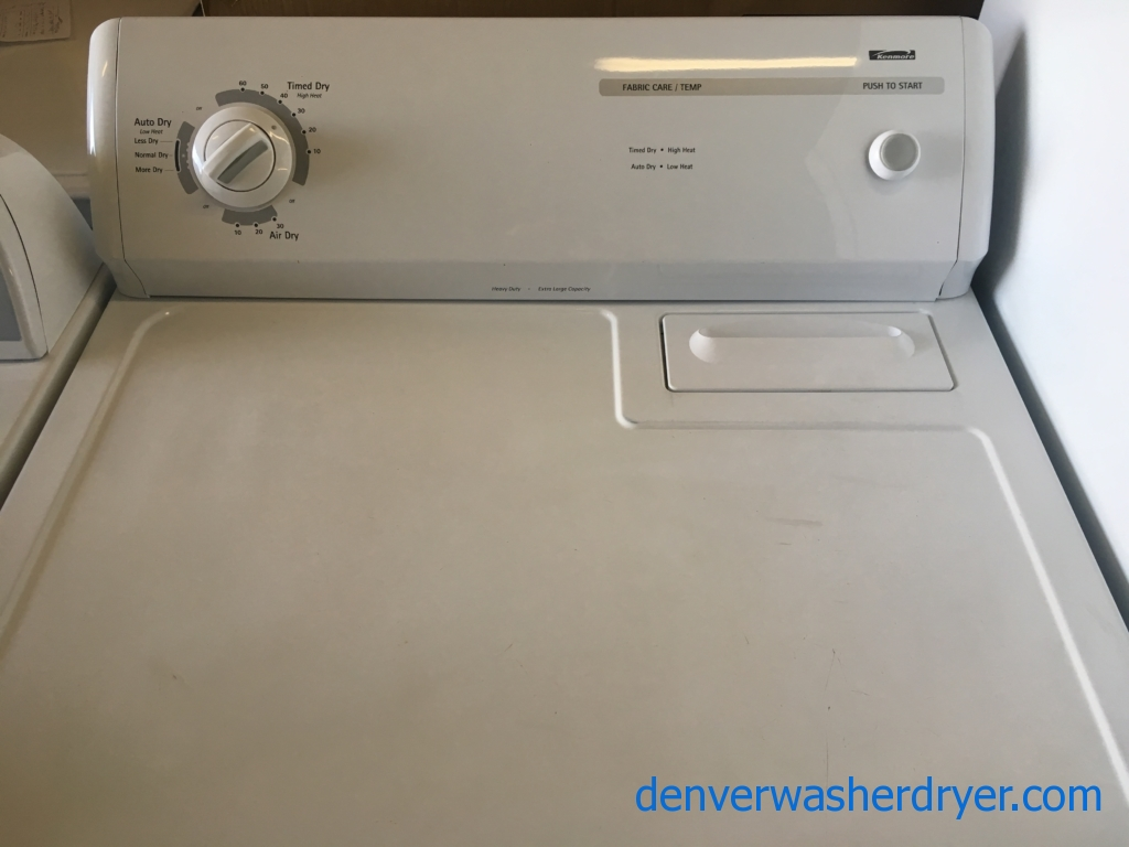 Unique Kenmore Dryer, White, 220V, 29″ Wide, Capacity 6.0 Cu.Ft., Quality Refurbished, 1-Year Warranty!