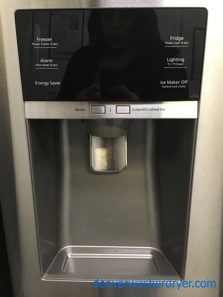 Beautiful SAMSUNG French Door Refrigerator, 4-Door, Stainless, Energy-Star Rated, LED Lighting, FlexZone, Quality Refurbished, 1-Year Warranty!