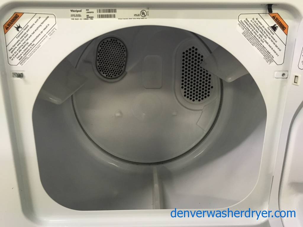 Wonderful Whirlpool Dryer, Commercial Quality, 29″ Wide, 220V, Capacity 7.0 Cu.Ft., Quality Refurbished, 1-Year Warranty!