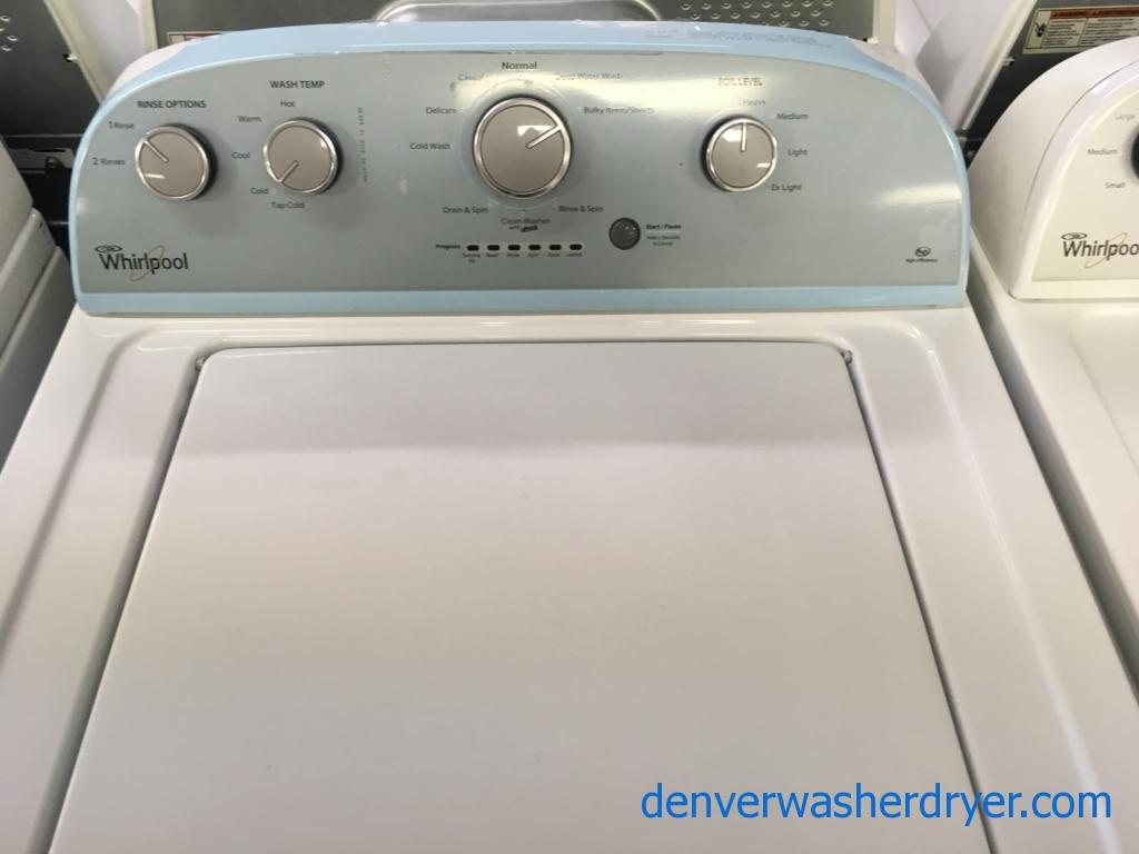 Great Whirlpool Washer, HE, Agitator, Auto-Load Sensing, Capacity 3.5 Cu.Ft., Quality Refurbished, 1-Year Warranty!