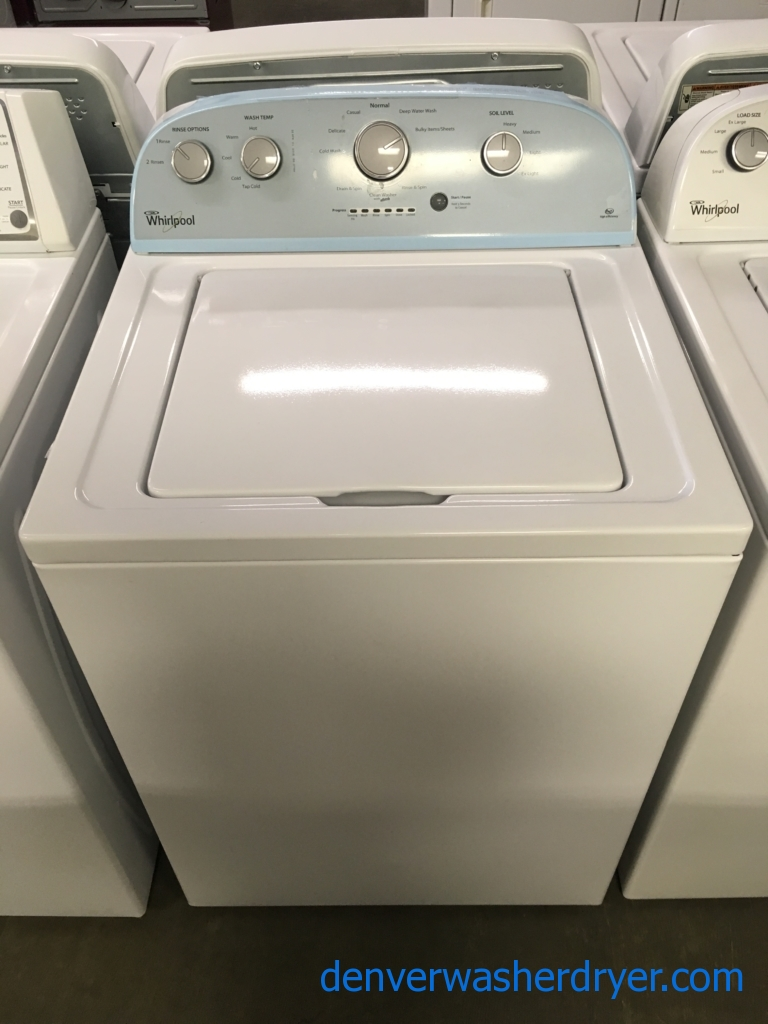 Great Whirlpool Washer, HE, Agitator, Auto-Load Sensing, Capacity 3.5 Cu.Ft., Quality Refurbished, 1-Year Warranty!