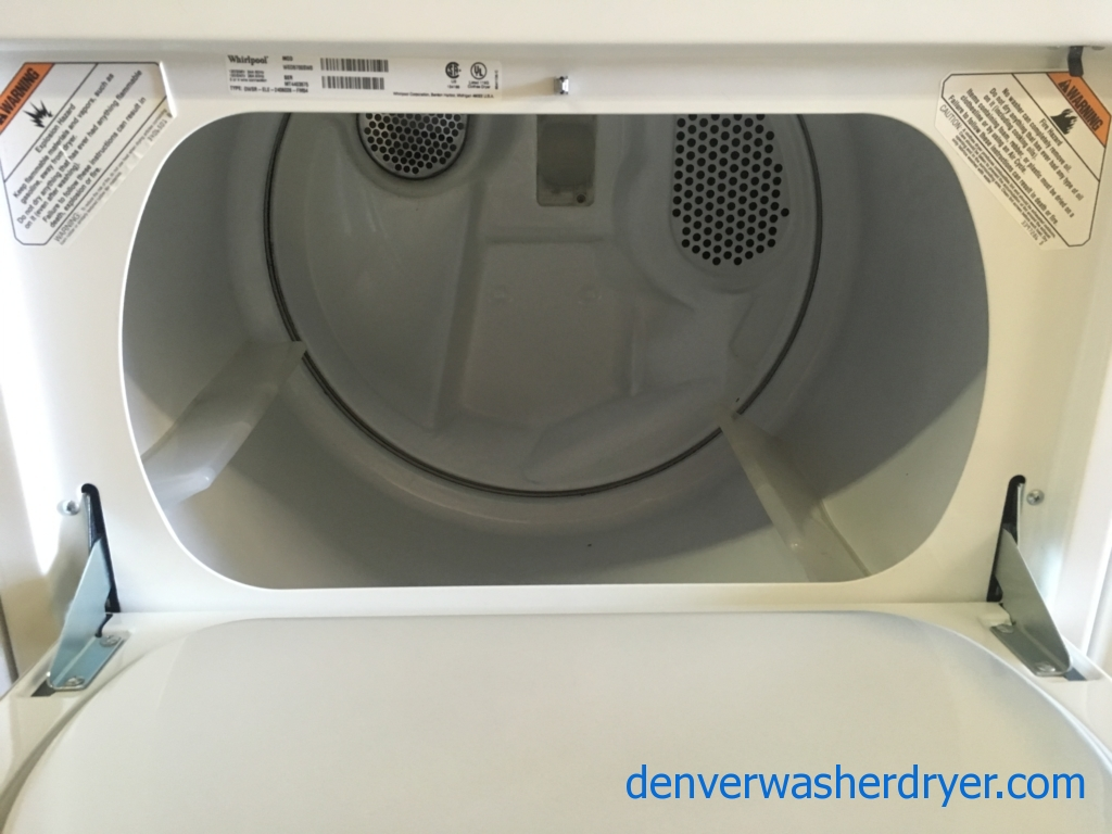 Heavy-Duty Whirlpool Washer and Dryer Set, Agitator, Electric, Auto-Load Sensing, Wrinkle Shield, Energy-Star Rated, Quality Refurbished, 1-Year Warranty!