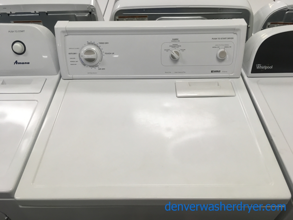 Kenmore 70 Series Dryer, Electric, 29″ Wide, 6.5 Cu.Ft. Capacity, Heavy-Duty, Quality Refurbished, 1-Year Warranty!