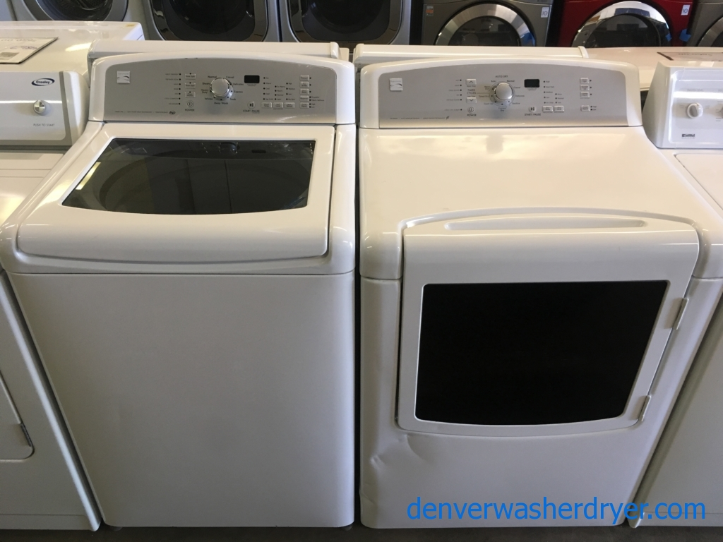 Kenmore Series 700 Washer and Dryer Set, HE, Deep Wash Cycle, Wrinkle Control Option, See-Through Doors, Quality Refurbished, 1-Year Warranty!