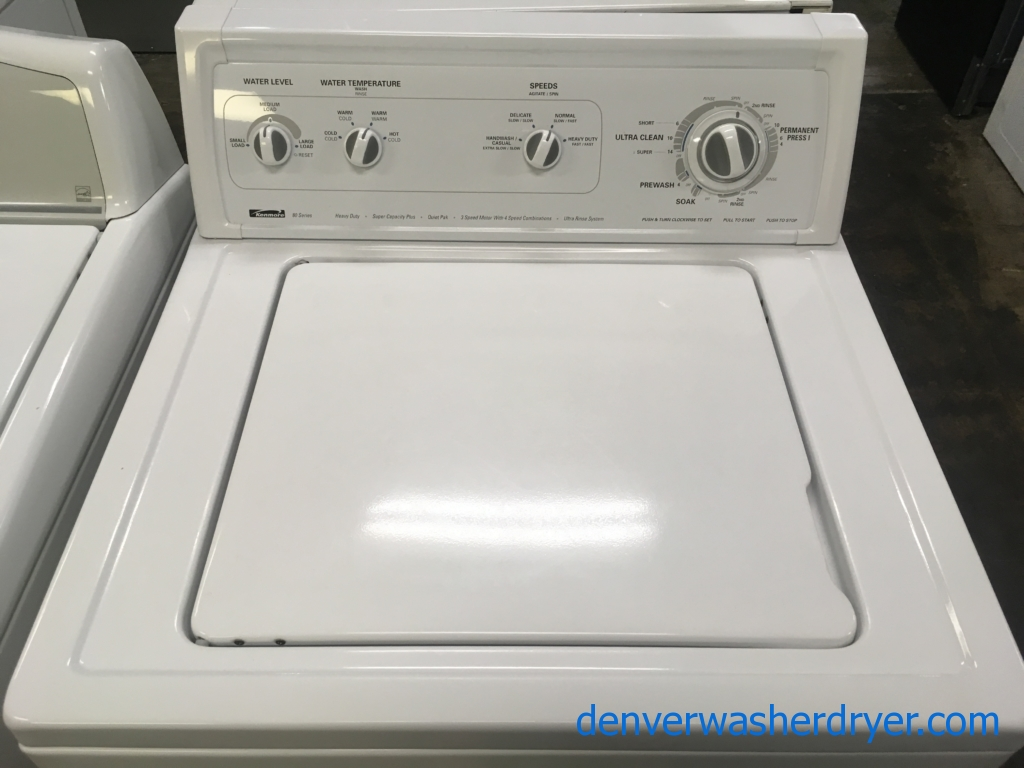 Heavy-Duty Kenmore 80 Series Top-Load Washer, Agitator, Ultra Rinse System, Quality Refurbished, 1-Year Warranty!