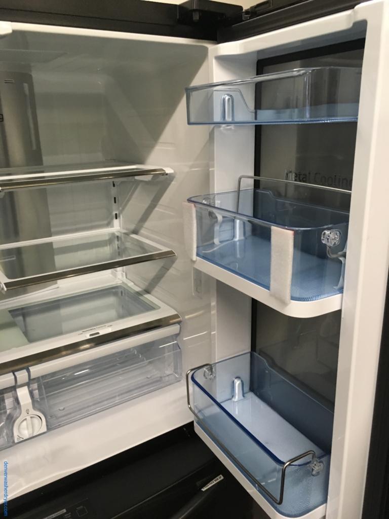 Absolutley Flawless Samsung French Door, Black Stainless Steel Refrigerator 1-Year Warranty