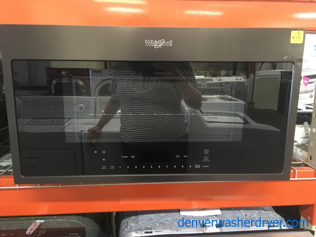 Whirlpool Black Stainless Microwave Quality Refurbished 1-Year Warranty