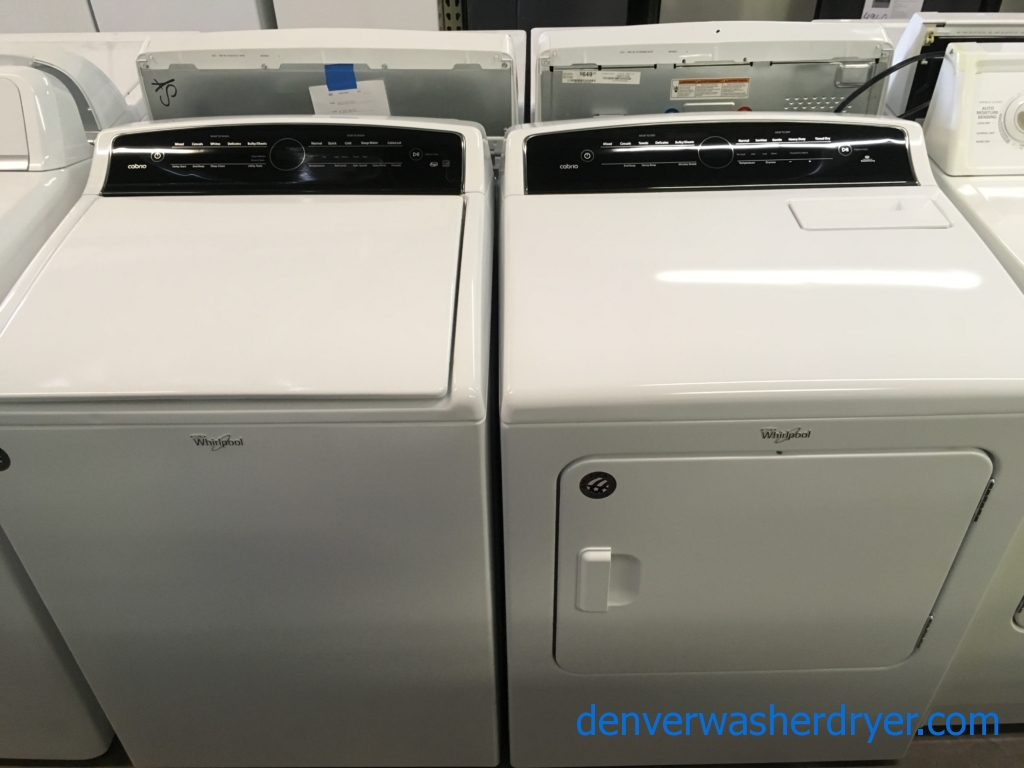 NEW!! Whirlpool Cabrio Washer and Dryer Set, HE, Wash-Plate Style, AccuDry, Intuitive Touch Controls, Factory Warranty!