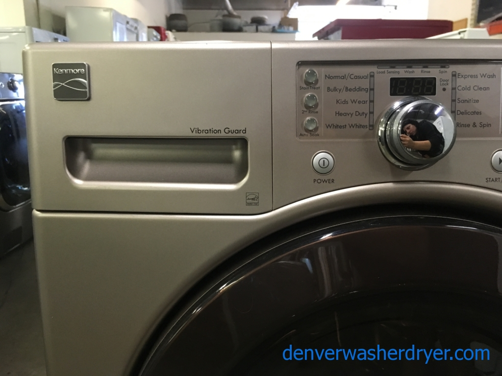 Kenmore Grey Front-Load Washer, Energy-Star Rated, Sanitize and Kids Wear Cycles, Stain Treat Option, Quality Refurbished, 1-Year Warranty!